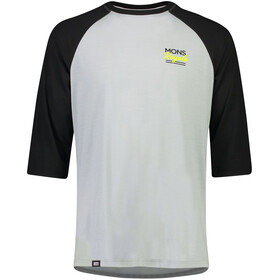 Mons Royale Tarn Freeride Raglan 3/4 Top Herre black/grey